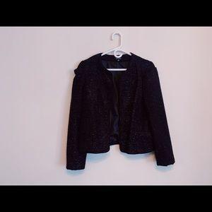 Saks Fifth Avenue Black sparkling blazer size 8